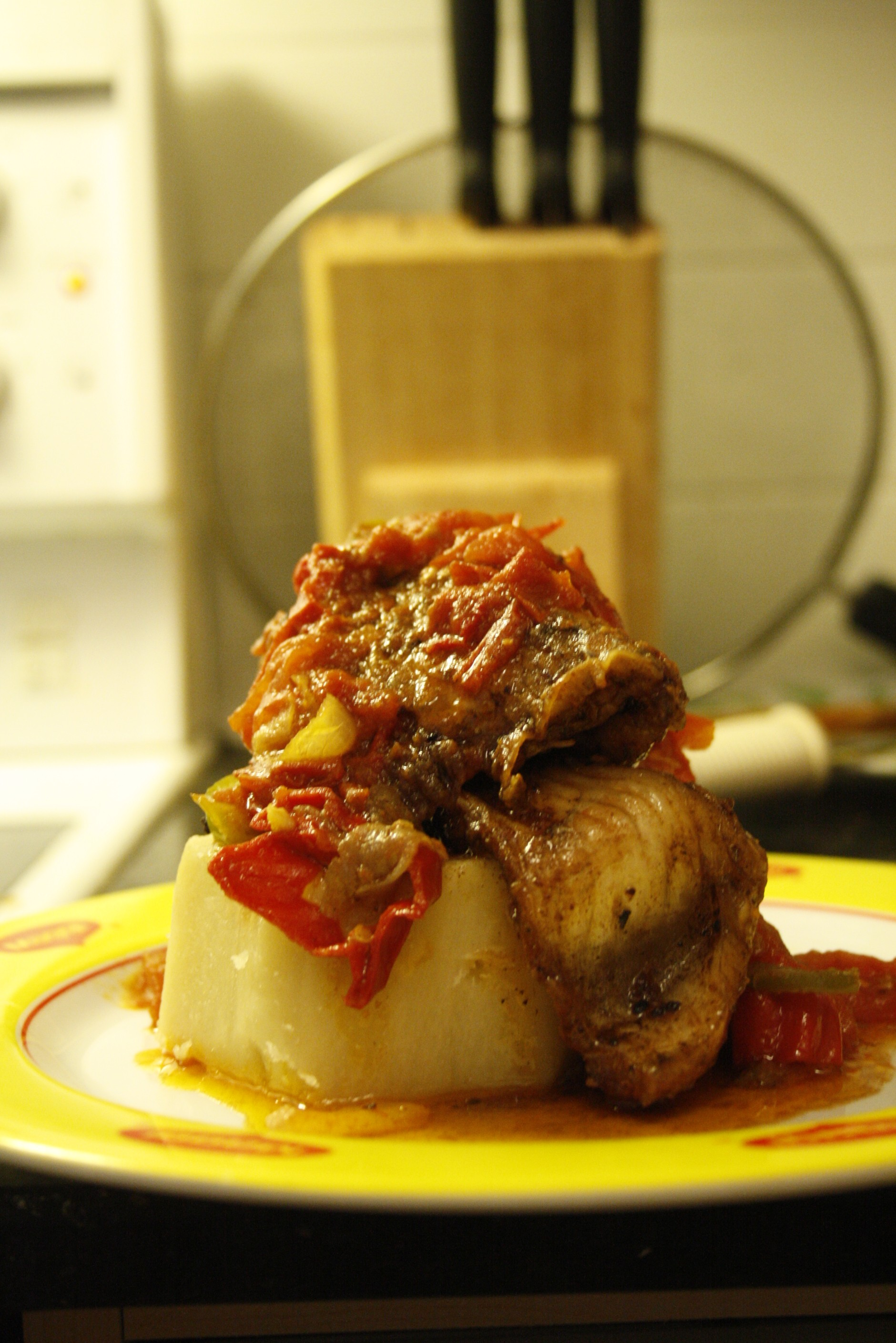 Recipe for the yam and fish sauce afrolems nigerian food for Recipes using fish sauce