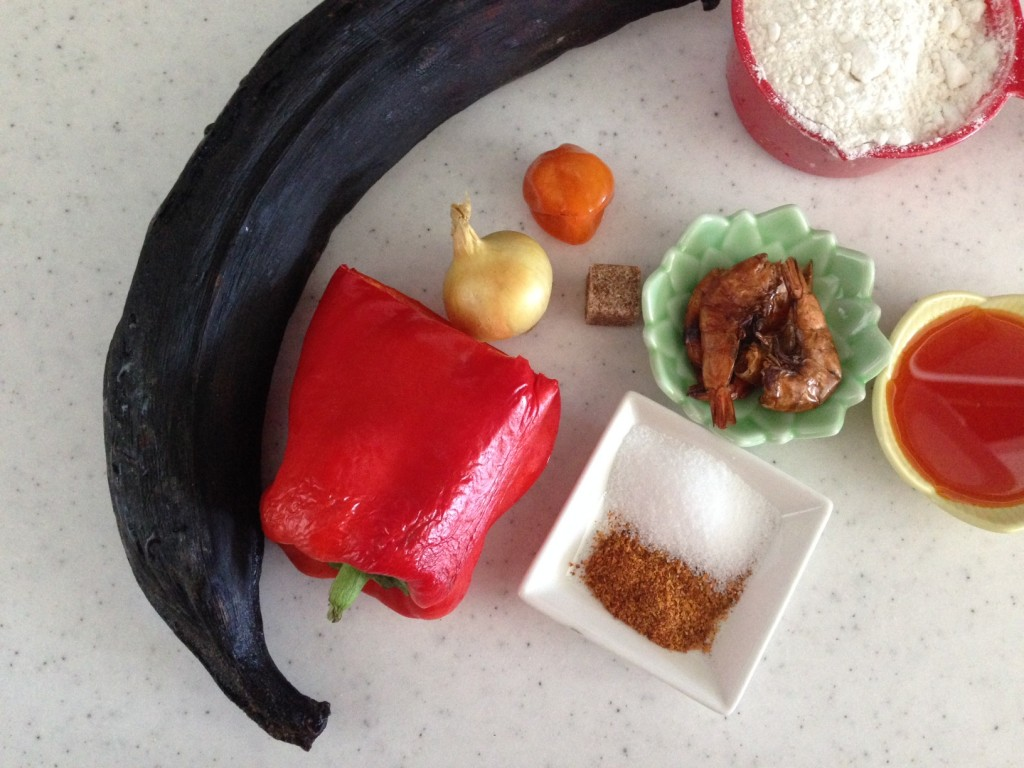 ingredients for plantain moin moin