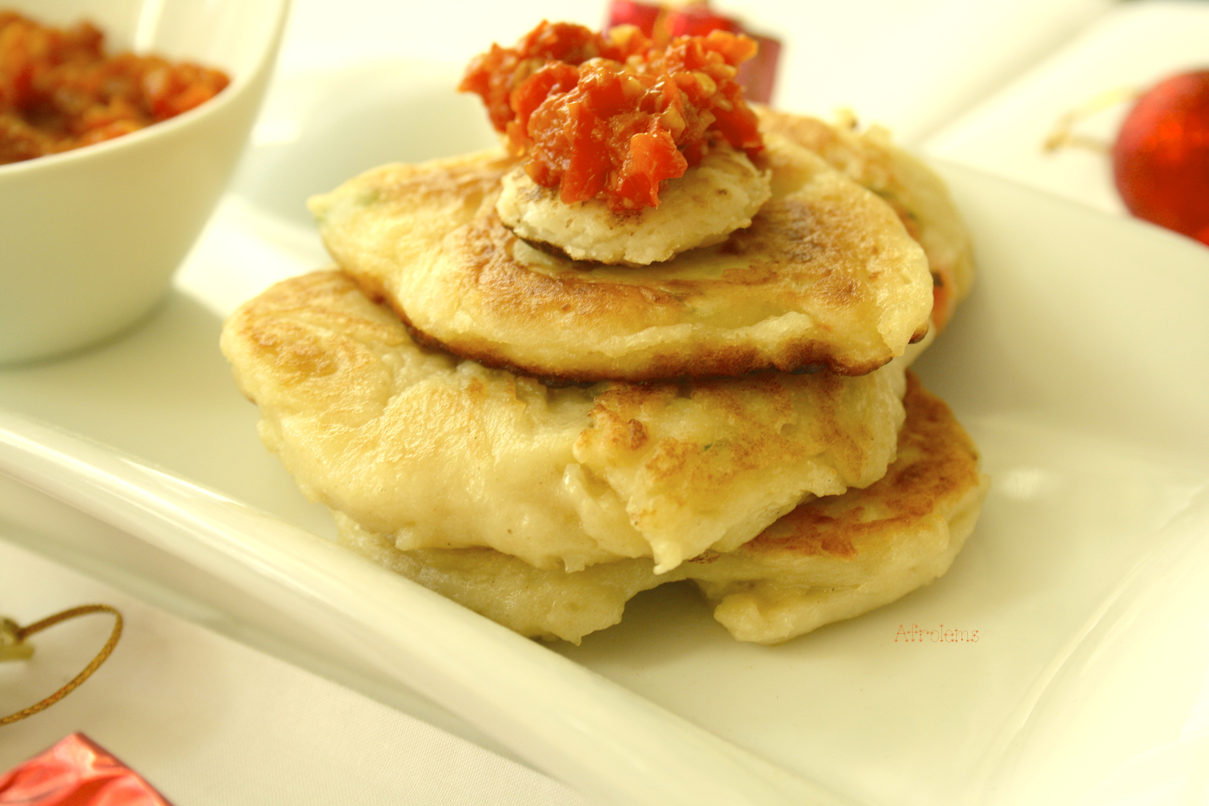 Mashed Potato Cakes with Pepper Garlic Sauce | Afrolems | Nigerian ...