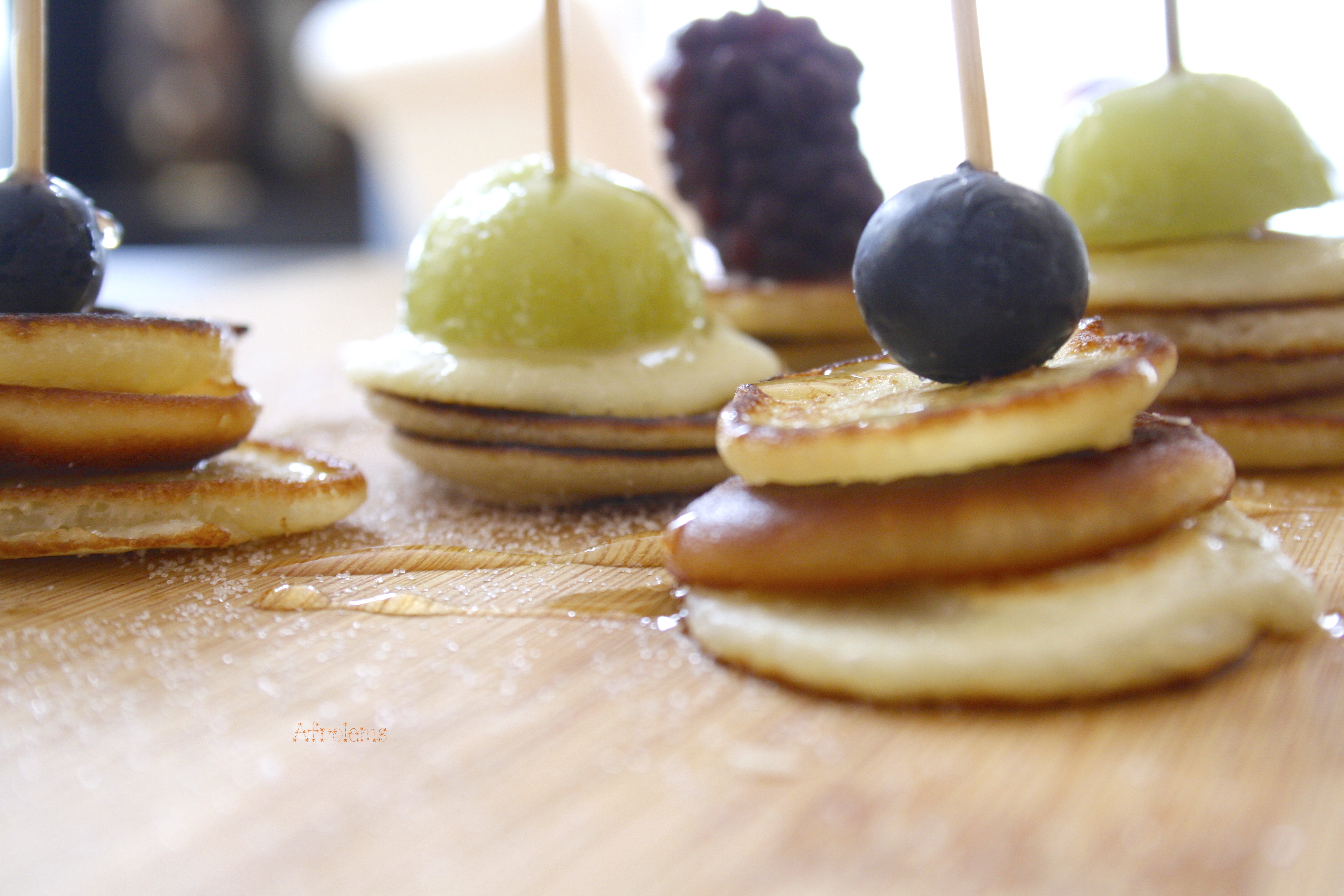 Mini Pancakes With Fruits Afrolems Nigerian Food