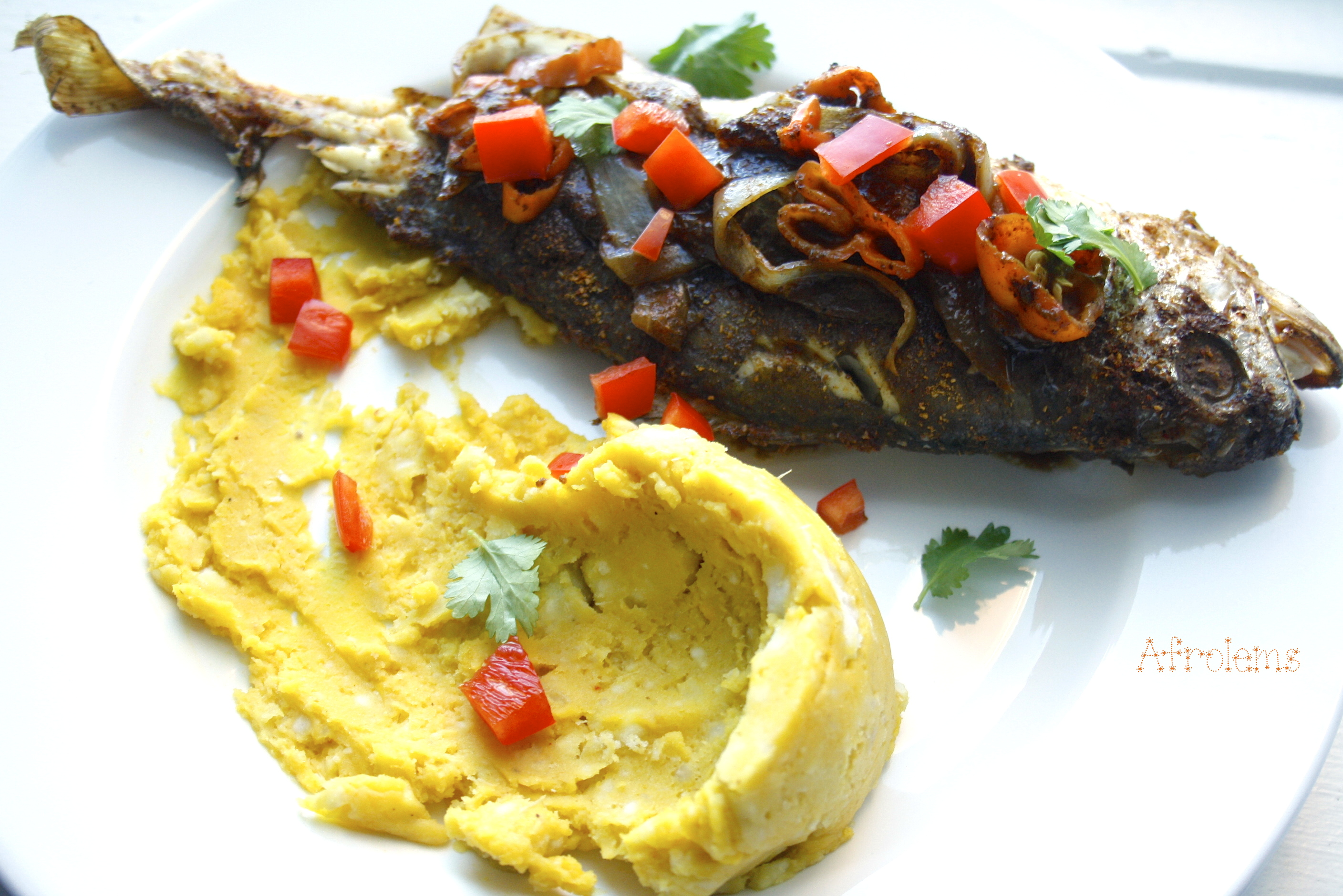 Yam and fish for Croaker fish recipe